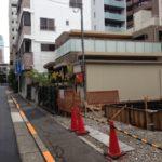 基礎工事途中の現場