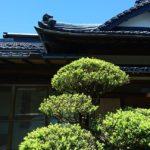 古民家の外観と植木