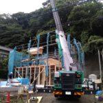 玉縄谷戸池プロジェクトの長屋の建方