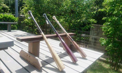 北鎌倉スタジオに届いた野球の木製バット