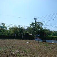 鎌倉の家の地盤調査の様子
