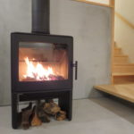 薪ストーブの火入れ式