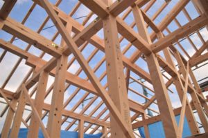 安心の耐震構造 無垢の構造材