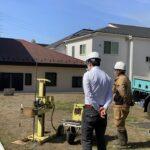 茅ヶ崎の家の地盤調査