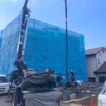 湘南「茅ヶ崎の家」のコンクリート打設