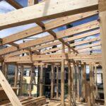 「茅ヶ崎の家」の建方